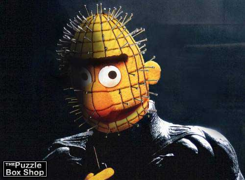 Pinhead on the set of the remake of Hellraiser