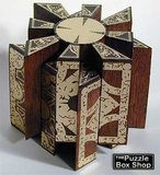Movable Mahogany and Brass Hellraiser Puzzle Box Star Configuration